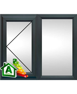 The Cardiff uPVC Double / Triple Glazing Windows in  Anthracite Grey
