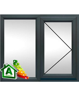 The Coventry uPVC Double / Triple Glazing Windows in  Anthracite Grey