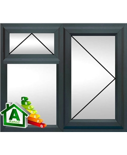 The Derby uPVC Double / Triple Glazing Windows in  Anthracite Grey