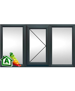 The Oxford uPVC Double / Triple Glazing Windows in  Anthracite Grey