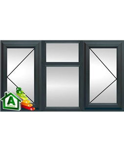 The Portsmouth uPVC Double / Triple Glazing Windows in  Anthracite Grey