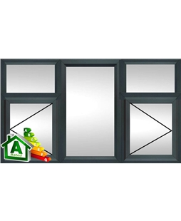 The Reading uPVC Double / Triple Glazing Windows in  Anthracite Grey