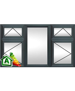 The Sheffield uPVC Double / Triple Glazing Windows in  Anthracite Grey
