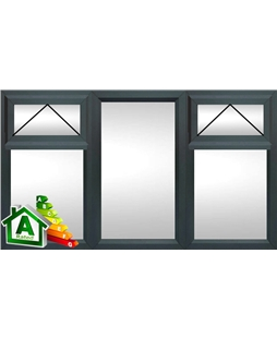 The Liverpool uPVC Double / Triple Glazing Windows in  Anthracite Grey