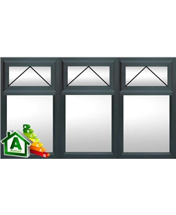 The London uPVC Double / Triple Glazing Windows in  Anthracite Grey