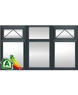 The Manchester uPVC Double / Triple Glazing Windows in  Anthracite Grey