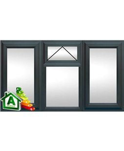 The Middlesbrough uPVC Double / Triple Glazing Windows in  Anthracite Grey