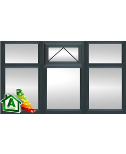 The Newcastle uPVC Double / Triple Glazing Windows in  Anthracite Grey