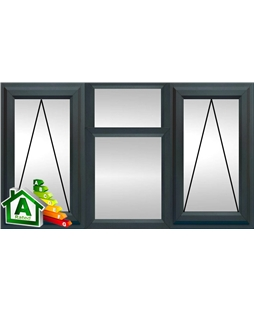 The Norwich uPVC Double / Triple Glazing Windows in  Anthracite Grey