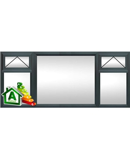 The Watford uPVC Double / Triple Glazing Windows in  Anthracite Grey