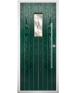 The Zetland Composite Door in Green with Clarity Elegance