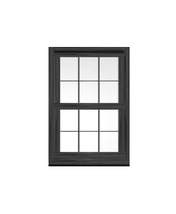 Lancashire uPVC Sliding Sash Window in Anthracite Grey