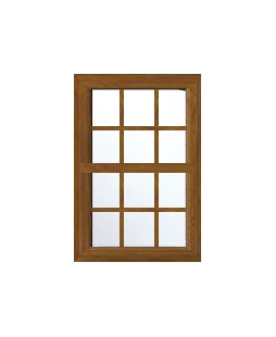 Lancashire uPVC Sliding Sash Window in Golden Oak