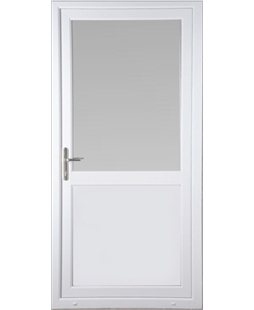 Kirkcaldy Half Flat Panel uPVC High Security Back Door