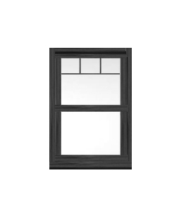 North Yorkshire uPVC Sliding Sash Window in Anthracite Grey