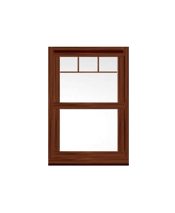 North Yorkshire uPVC Sliding Sash Window in Rosewood
