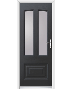 Ultimate Illinois Rockdoor in Anthracite Grey with Glazing