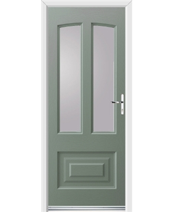 Ultimate Illinois Rockdoor in Chartwell Green with Glazing