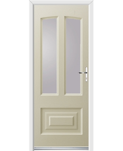 Ultimate Illinois Rockdoor in Cream with Glazing
