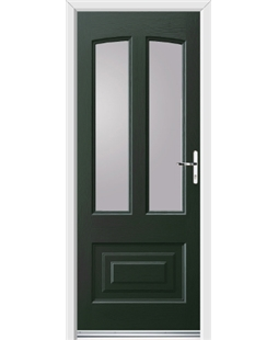 Ultimate Illinois Rockdoor in Emerald Green with Glazing