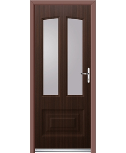 Ultimate Illinois Rockdoor in Mahogany with Glazing