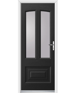 Ultimate Illinois Rockdoor in Onyx Black with Glazing
