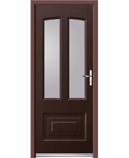 Ultimate Illinois Rockdoor in Rosewood with Glazing