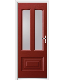 Ultimate Illinois Rockdoor in Ruby Red with Glazing