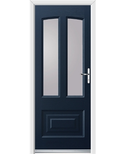 Ultimate Illinois Rockdoor in Sapphire Blue with Glazing