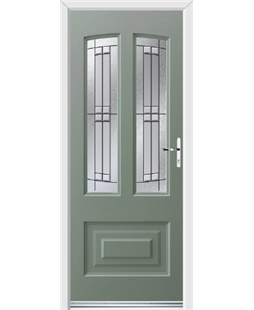 Ultimate Illinois Rockdoor in Chartwell Green with Empire