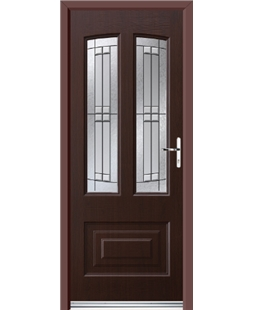 Ultimate Illinois Rockdoor in Rosewood with Empire