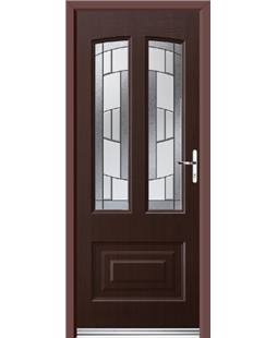 Ultimate Illinois Rockdoor in Rosewood with Inspire