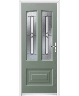 Ultimate Illinois Rockdoor in Chartwell Green with Pinnacle