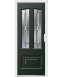 Ultimate Illinois Rockdoor in Emerald Green with Pinnacle