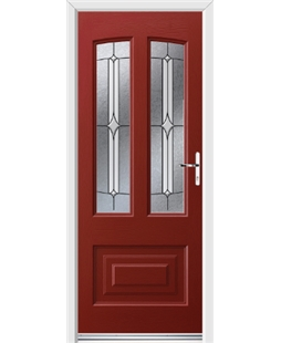 Ultimate Illinois Rockdoor in Ruby Red with Pinnacle