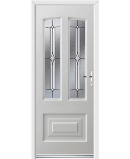 Ultimate Illinois Rockdoor in White with Pinnacle