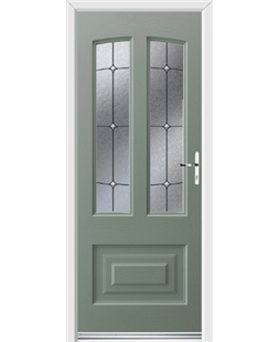 Ultimate Illinois Rockdoor in Chartwell Green with Trinity