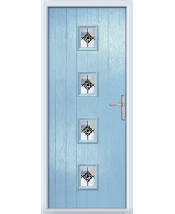 The Uttoxeter Composite Door in Blue (Duck Egg) with Infinity