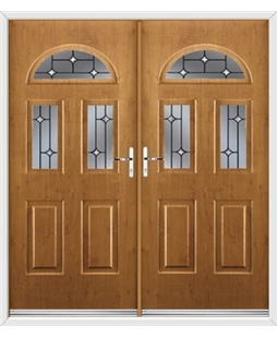 Tennessee French Rockdoor in Irish Oak with Crystal Bevel