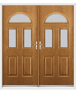 Tennessee French Rockdoor in Irish Oak with Glazing