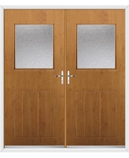 Cottage View Light French Rockdoor in Irish Oak with Gluechip Glazing