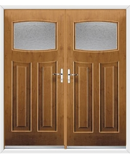 Newark French Rockdoor in Irish Oak with Gluechip Glazing