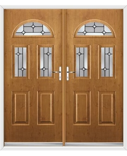 Tennessee French Rockdoor in Irish Oak with Linear