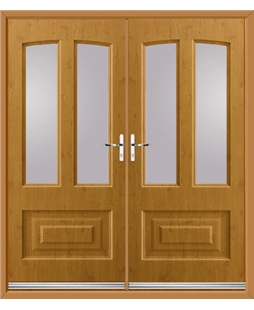 Illinois French Rockdoor in Irish Oak with Glazing