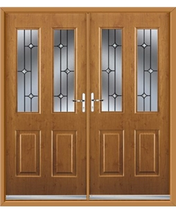 Jacobean French Rockdoor in Irish Oak with Crystal Bevel