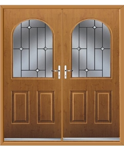 Kentucky French Rockdoor in Irish Oak with Crystal Bevel