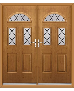 Tennessee French Rockdoor in Irish Oak with Diamond Lead