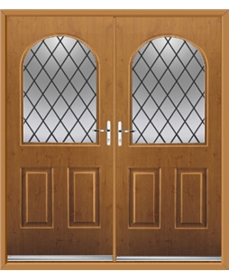 Kentucky French Rockdoor in Irish Oak with Diamond Lead