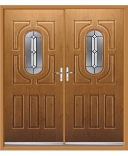 Arcacia French Rockdoor in Irish Oak with Ellipse
