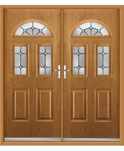 Tennessee French Rockdoor in Irish Oak with Ellipse